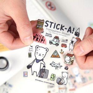 cetak Sticker transparant