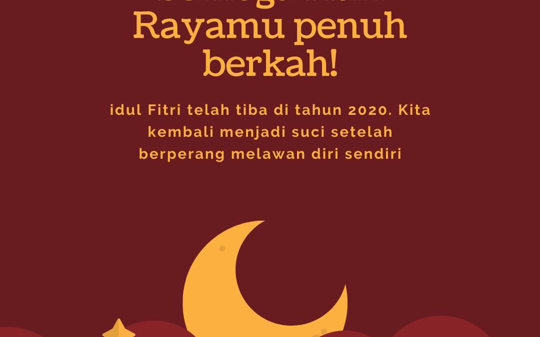 Aneka Pesan Ucapan Selamat Hari Raya Idul Fitri 2020