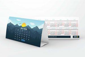 Cetak kalender meja tegal