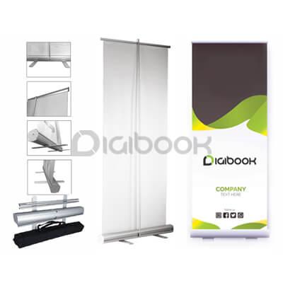 Display Sistem Banner Roll Up Digibook Promotion