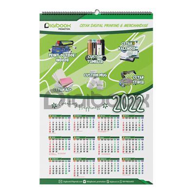 Kalender Dinding Spiral Portrait 2 Digibook Promotion