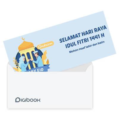 Paket Kartu Ucapan Lebaran Dan Amplop Digibook Promotion