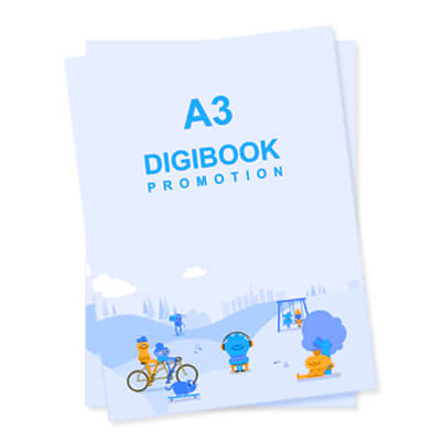 Print On Demand A3 Digibook Promotion