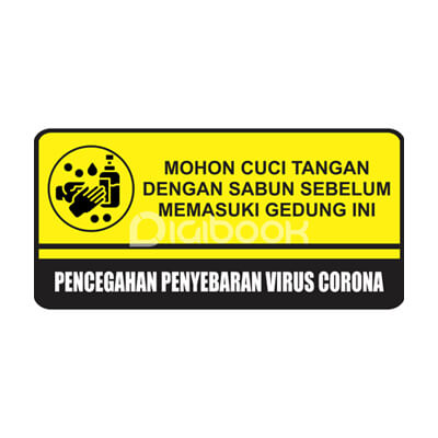 Safety Sign Cuci Tangan Digibook Promotion