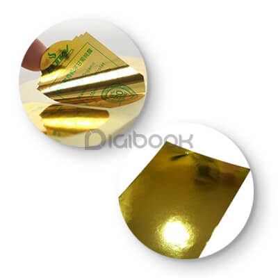 Sticker Metalized Gold Digibook Promotion